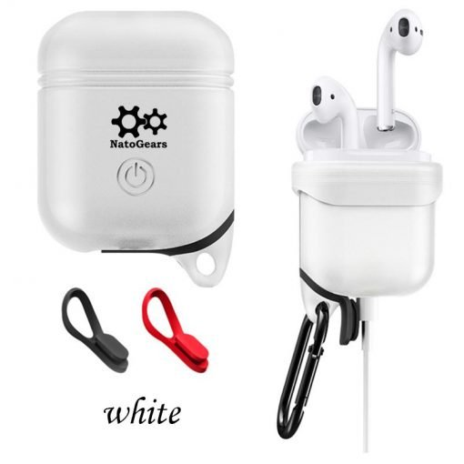 Apple Airpods Case Protective Silicon Cover With Carabiner & Is Waterproof