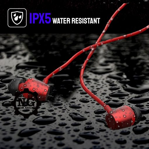 NatoGears 48 Hours Playtime IPX5 Sport Neckband Headphones Earbuds Waterproof Headphones for Sports and Gyms