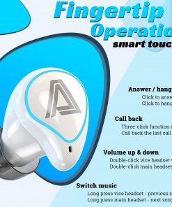 Bluetooth Earphone 5.0 TWS LED Display Noise Reduction Earbuds with 2000mAH Power Bank