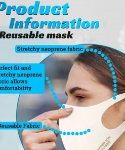 Copper Ion Infused Washable Reusable Cloth Face Mask
